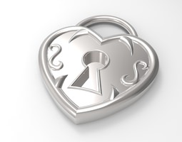 locked heart 3d model stl