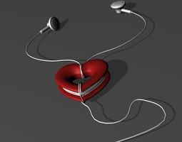 Heart Cord wrap 3D printable model
