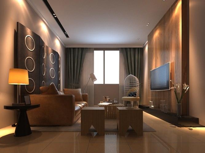 Blanket 3d modern living room cgtrader for Living room 3d max