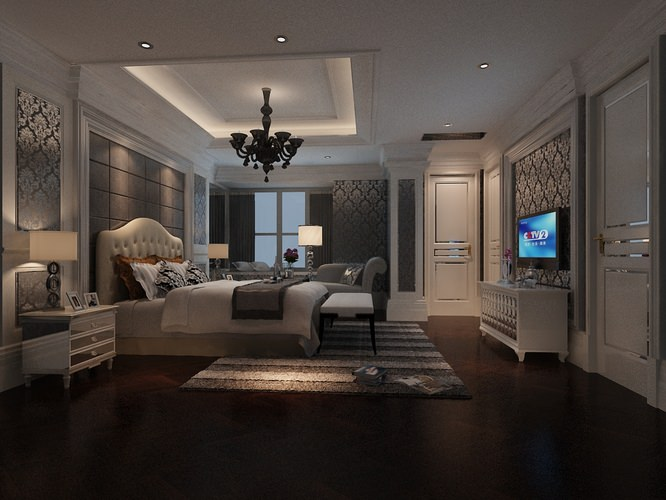Fancy Bedroom 3D model. Fancy Bedroom 3D model MAX