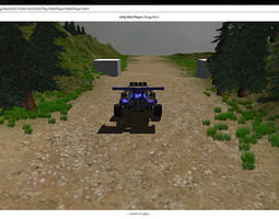 Buggy racing simulation 3D model