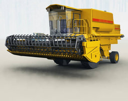 Combine Harvester Vue 3D model
