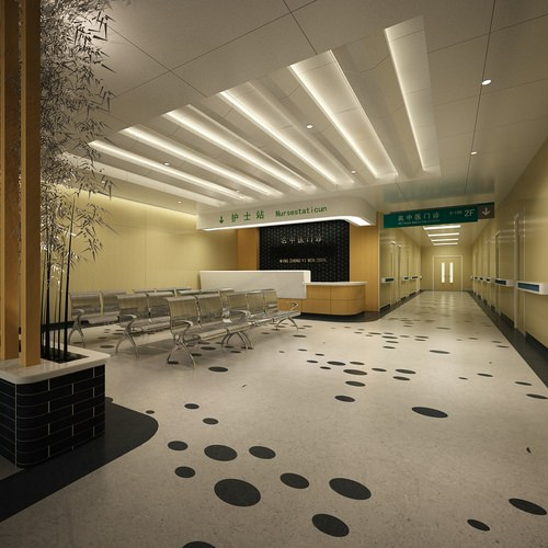 Modern Interior Design Review: 3D Model Modern Hospital Reception
