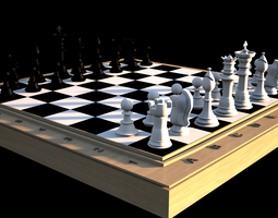 3D Typical chess set