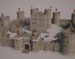 3D tower Meideval Castle set