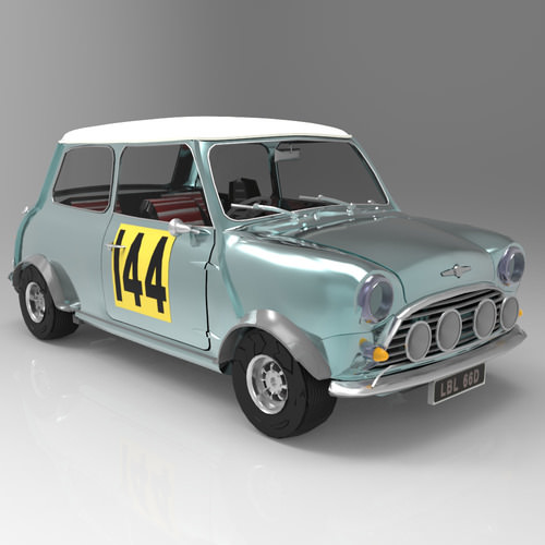 mini cooper s 1964 studio max 3d model max tga pdf. Black Bedroom Furniture Sets. Home Design Ideas