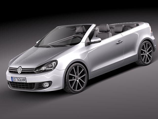 volkswagen golf cabriolet 2012 3d model 3d model max obj mtl 3ds fbx c4d lwo lw lws 1