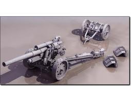 german field artillery sfh 18 studio max 3d model