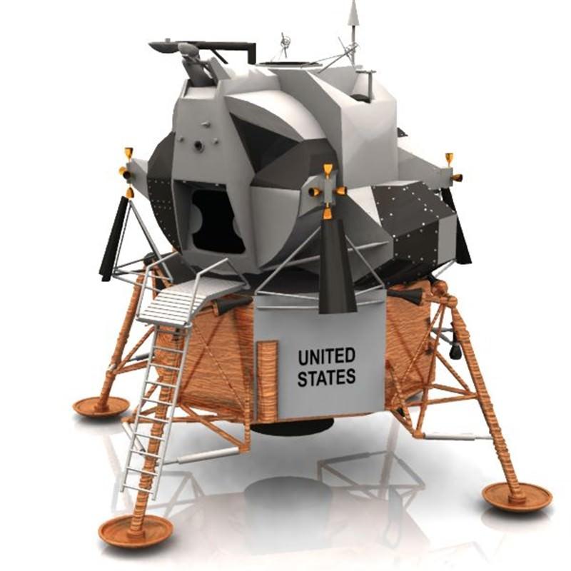 Eagle Lunar Lander Studio Max