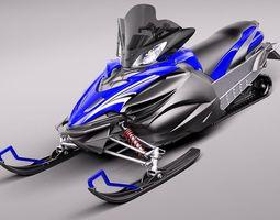 Yamaha Apex Snowmobile 2011 3D Model 3D Model