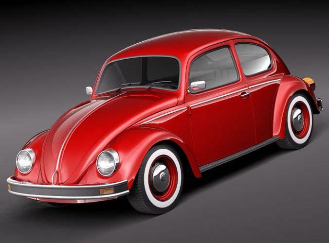 volkswagen beetle 1980 3d model max obj mtl 3ds fbx c4d lwo lw lws 1