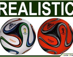 brazuca official soccer ball world cup 2014 3d model max obj fbx