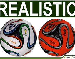Brazuca Official Soccer Ball World Cup 2014 3D Model
