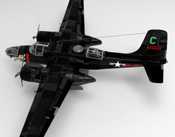 A B 26C Invader Poser 3D model