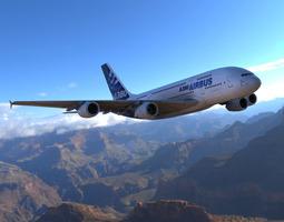 3D Airbus A380 Poser
