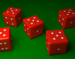 3D model Red Yahtzee