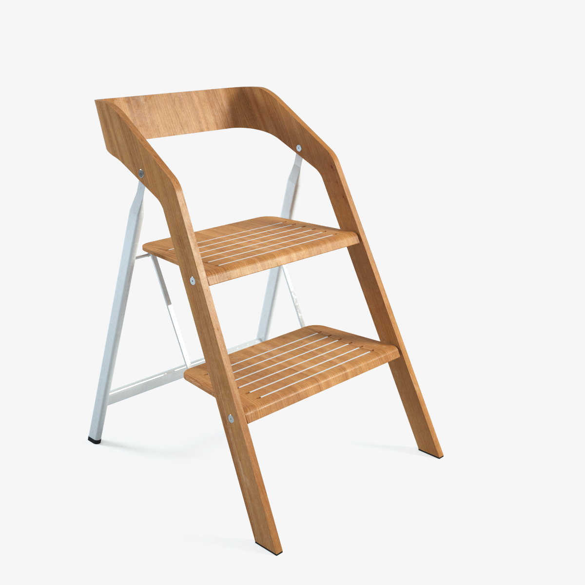 Awesome Chair Step Ladder #5 - Vintage Usit Stepladder Chair 2-step Version 3d Model Max 1 ...