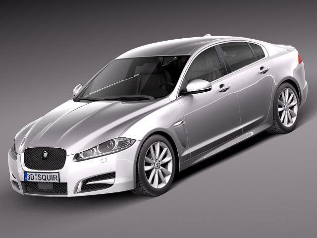 jaguar xf 2013 3d model max obj mtl 3ds fbx c4d lwo lw lws 1
