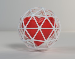 Heart in Cage 002 3D printable model