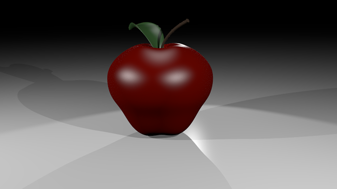 apple with materials 3d model low-poly max obj mtl 3ds blend 1