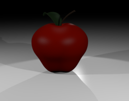 Realistic Apple D 3D model