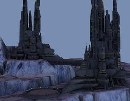 Ice World City 3D model