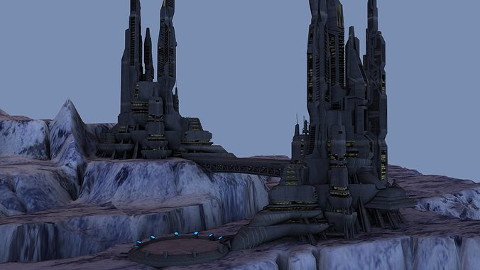 ice world city 3d model max obj mtl 1