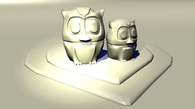love owls 3d model obj fbx stl 1
