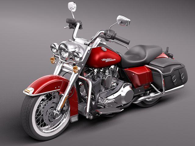 harley davidson road king classic 2011 3d model 3d model max obj mtl 3ds fbx c4d lwo lw lws 1