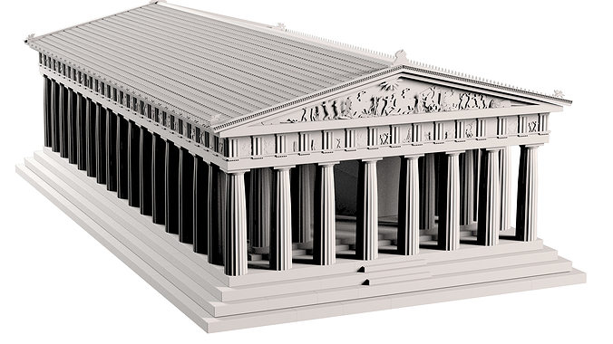 parthenon 3d model max obj mtl 3ds fbx 1