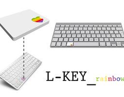 3d print model l-key rainbow