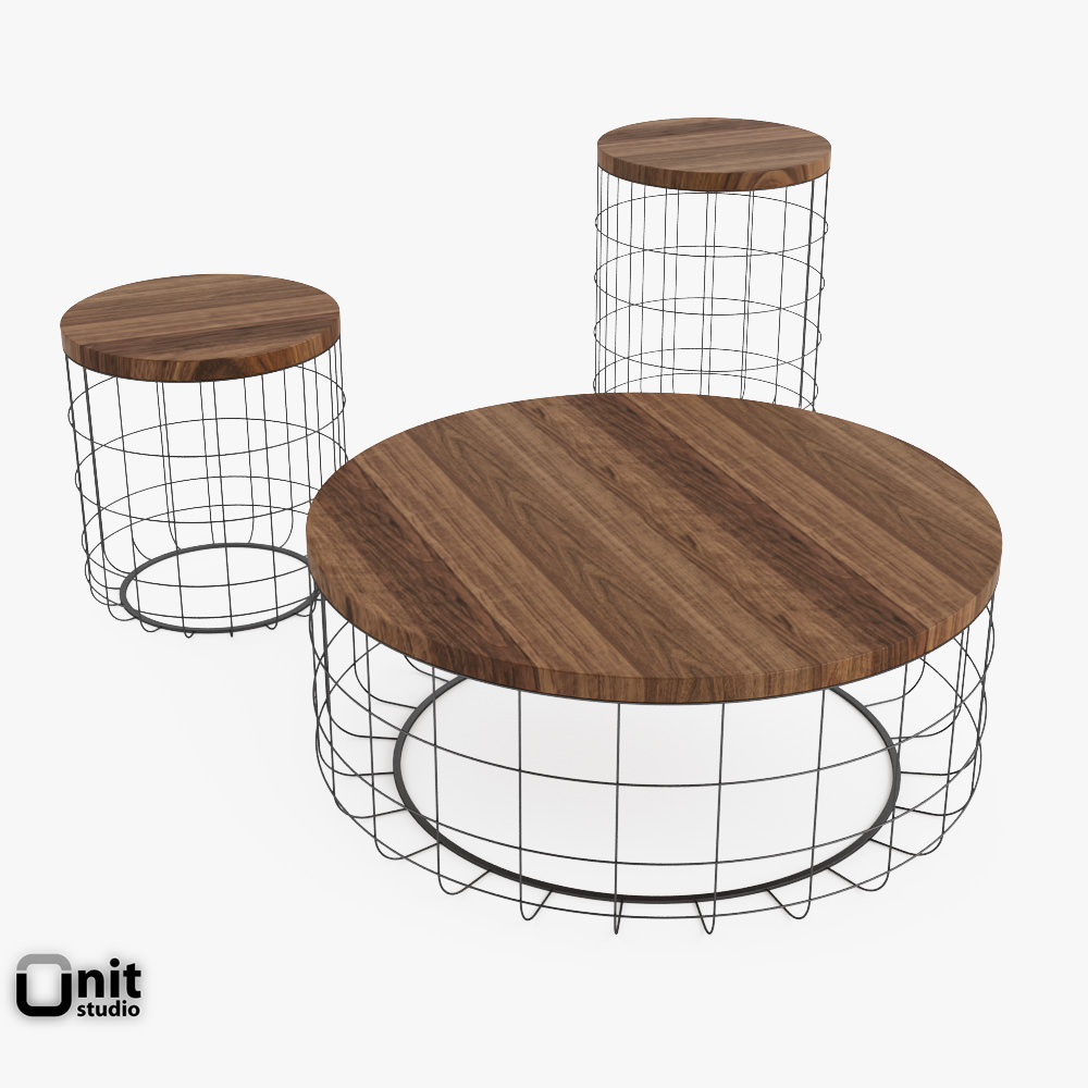 Table Wire Group By Dare Studio 3d Model Max Obj 3ds Fbx Dwg Unitypackage 1  ...