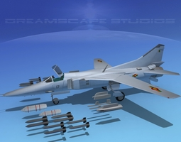 rigged mig-27 flogger sri lanka 3d model