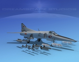 rigged 3d model mig-27 flogger v21 china