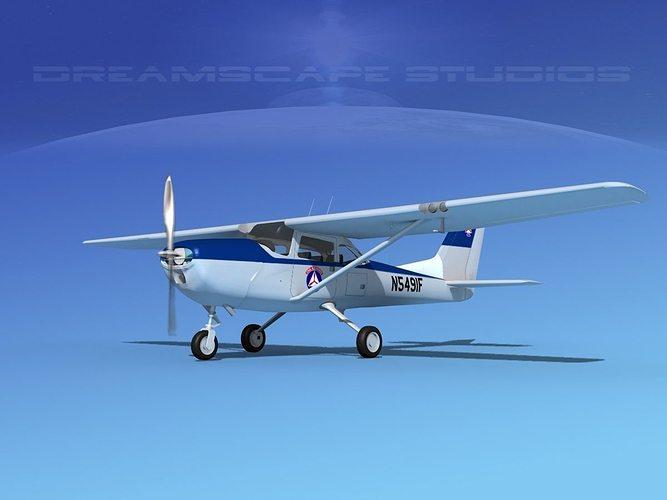 cessna t-41 mescalero civil air patrol 3d model rigged max obj 3ds lwo lw lws dxf dwg 1
