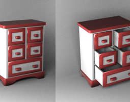 small bureau for jewelry 15 12 6 cm 3D Model