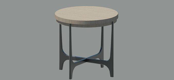 end table 3d model rfa 1