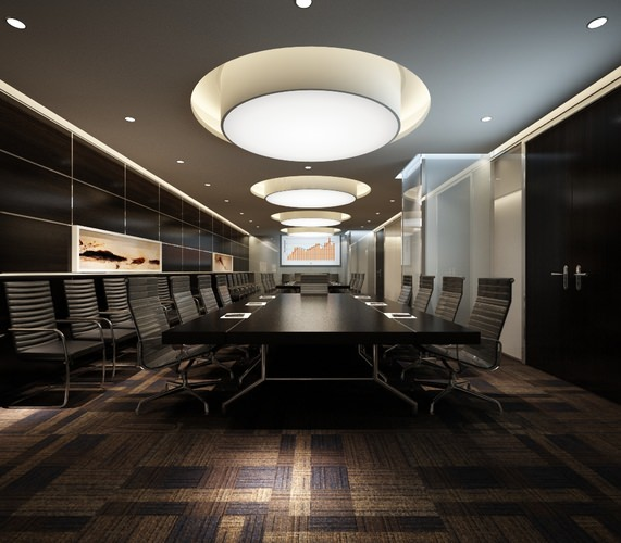 3d Model Modern Dark Meeting Room Cgtrader