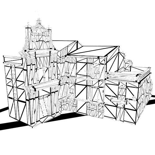 italian piazza for vue 3d model rigged vue. Black Bedroom Furniture Sets. Home Design Ideas