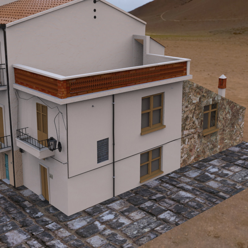 Italian piazza for vue 3d model rigged vue for Architecture 3d vue 3d
