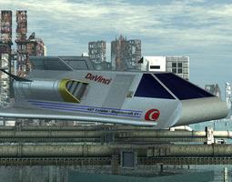 rigged earth shuttle for vue 3d model