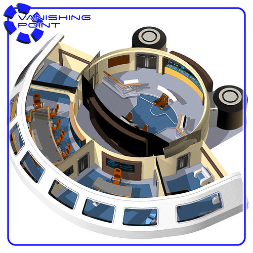 Starship Bridge 13 For Poser 3d Model Cgtrader