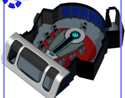 3D Starship Conference Room for Poser