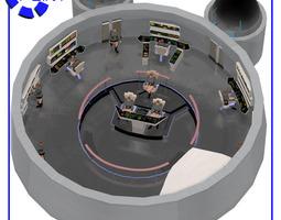 Starship Bridge 9 Poses for Poser 3D Model