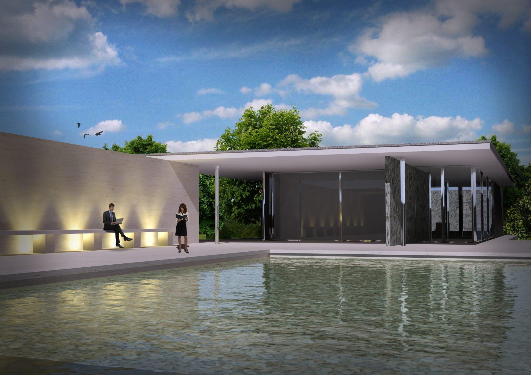 ... Barcelona Pavilion 3d Model 3d Model Max 2 ...