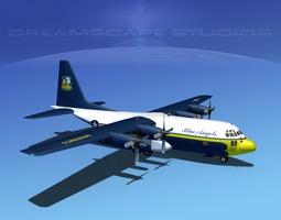 3D model Lockheed C-130 Hercules Blue Angels