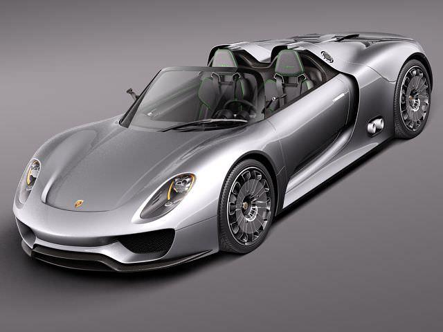 porsche 918 spyder 2012 3d model max obj 3ds fbx c4d lwo lw lws 1 - Porsche Spyder 2012