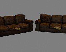 Damaged Couch 3D model