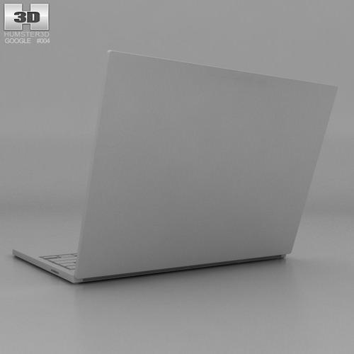 Google Chromebook Pixel 3d Model Max Obj 3ds Fbx C4d Lwo