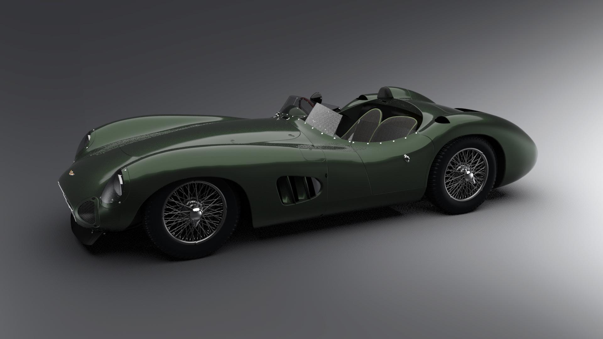 3d Model Aston Martin Racing Dbr1 Vintage Car Cgtrader